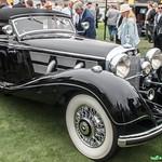 An immaculate 1937 Mercedes Benz 540K.